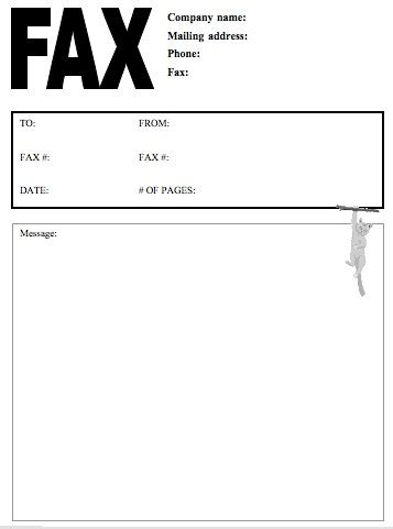 Fax cover letter format Sample Letters